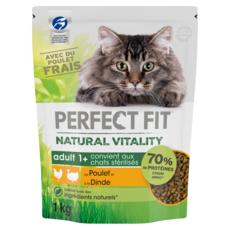 PERFECT FIT Natural Vitality Croquettes pour chat poulet et dinde 1kg