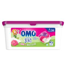 OMO Capsules de lessive rose et lilas blanc 27 lavages 27 capsules