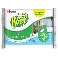PYREL Crochets anti-mites air frais 2 pièces