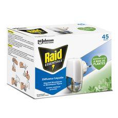 RAID Diffuseur électrique liquide répulsif moustiques et moustiques tigres action continue prouvée Efficace 45 nuits 1 diffuseur