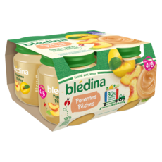 Blédina BLEDINA Petit pot dessert pommes pêches dès 4/6 mois