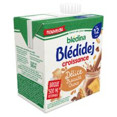 BLEDINA Blédidej céréales lactées biscuité choco dès 12 mois 500ml