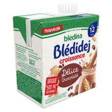 BLEDINA Blédidej céréales lactées chocolat dès 12 mois 500ml