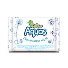 KANDOO Lingettes toilette aquas 0% parabène 50 lingettes