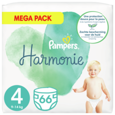 PAMPERS Harmonie couches taille 4 (9-14kg) 66 couches