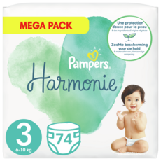 PAMPERS Harmonie couches taille 3 (6-10kg) 74 couches