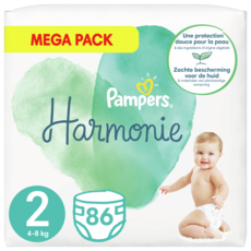 PAMPERS  Harmonie taille 2 -4kg à 8kg  86 Couches