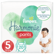 PAMPERS Harmonie nappy pants couches-culottes taille 5 (12-17kg) 20 culottes