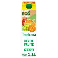TROPICANA Réveil fruité pur jus  1l +10% offert
