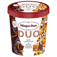 HAAGEN DAZS Duo Crème glacée chocolat noir Belge et caramel beurre salé  360G