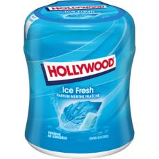 HOLLYWOOD Ice Fresh Chewing-gum sans sucres menthe fraîche 60 dragées 87g