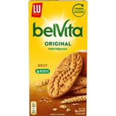 BELVITA Biscuits petit-déjeuner brut aux céréales complètes, sachets fraîcheur 8x4 biscuits 400g