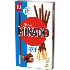 MIKADO Bâtonnets biscuités nappés de chocolat au lait 90g
