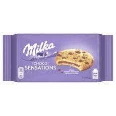 MILKA Cookies sensations au cœur chocolat fondant 182g