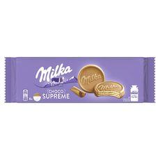MILKA Choco supreme biscuits nappés de chocolat au lait 6 biscuits 180g
