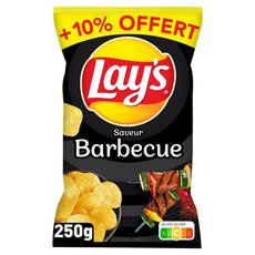 LAY'S Chips saveur barbecue  250g+10% offert