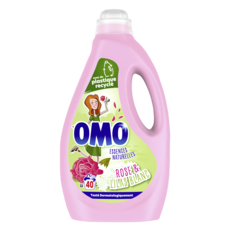 OMO Lessive liquide rose & lilas blanc 40 lavages 2l