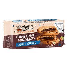MICHEL ET AUGUSTIN Cookies super cœur fondant au chocolat et noisettes 6 biscuits 180g