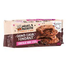 MICHEL ET AUGUSTIN Super cœur fondant Cookies au chocolat noir et pépites de chocolat 6 biscuits 180g