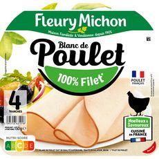 FLEURY MICHON Blanc de poulet 100% filet 4 tranches 150g