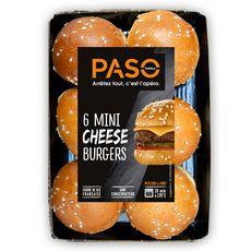 PASO Mini cheese burgers  6 pièces 210g