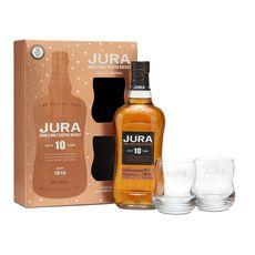 JURA Coffret whisky single malt Jura 40% 10 ans + 2 verres 70cl