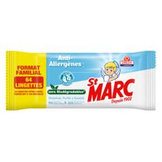 ST MARC Lingettes désinfectantes biodégradables anti-allergènes 64 lingettes