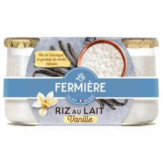 LA FERMIERE Riz au lait à la vanille 2x160g