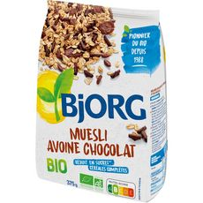 BJORG Muesli de céréales bio avoine chocolat 375g