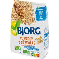 BJORG Porridge bio 3 céréales 375g