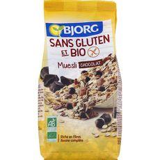 BJORG Muesli de céréales chocolat bio sans gluten 375g
