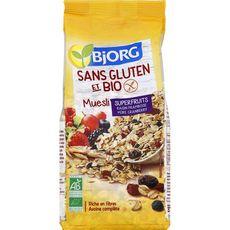 BJORG Muesli de céréales superfruits bio sans gluten 375g