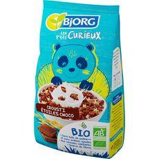 BJORG Les P'tits Curieux Céréales complètes bio crousti étoiles chocolat 375g