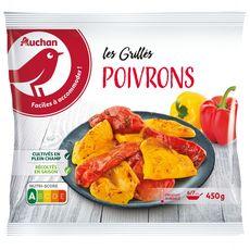AUCHAN Poivrons grillés 3 portions 450g