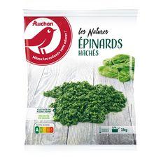 AUCHAN Epinards hachés 5 portions 1kg
