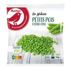 AUCHAN Petits pois extra fins 5 portions 1kg