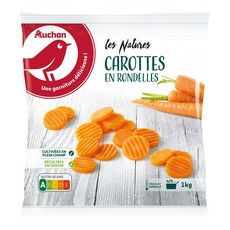 AUCHAN Carottes en rondelles 5 portions 1kg