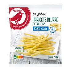 AUCHAN Haricots beurre extra-fins 5 portions 750g