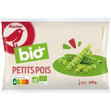 AUCHAN BIO Petits pois 3 portions 600g
