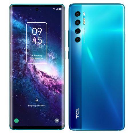 TCL Smartphone 20 Pro  256 Go  6.67 pouces  Bleu  5G  Double Nano Sim