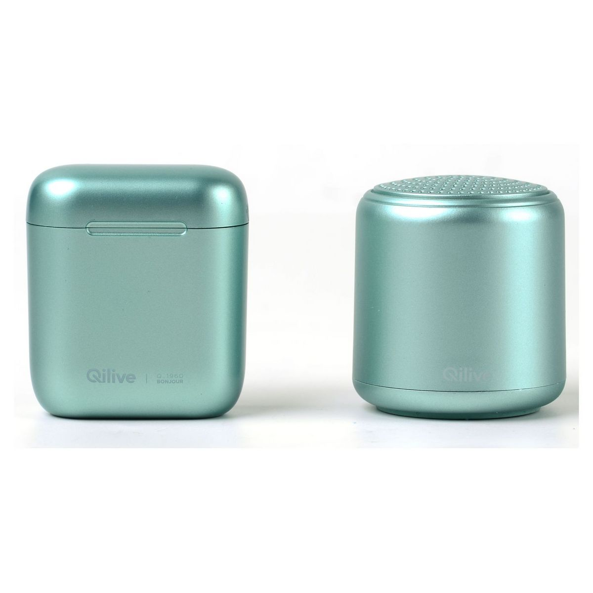 Pack Ecouteurs TWS avec boitier + Enceinte Mini - Vert