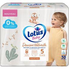 Lotus LOTUS BABY Couches culottes douceur naturelle antifuite 12h Taille 5 (12 à 20 kg)
