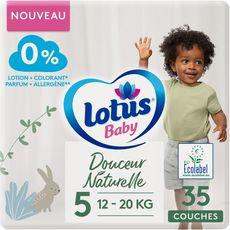 LOTUS BABY Couches Douceur naturelle taille 5 (12à20kg) 35 couches