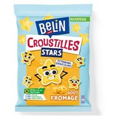 BELIN Croustilles stars biscuits salés goût fromage 90g
