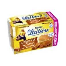 LA LAITIERE Petit pot de crème saveur caramel 4x100g