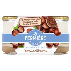 LA FERMIERE Yaourt gourmand au marron 2x160g