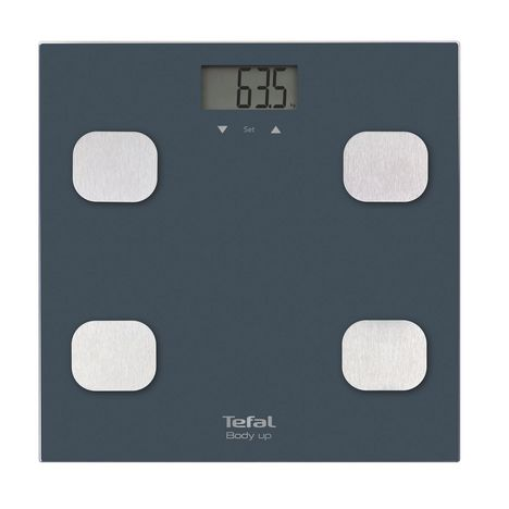 TEFAL Pèse personne impédancemètre BM2520V0 - Gris bleu