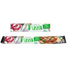 AUCHAN Pâte à pizza fine et ronde 260g