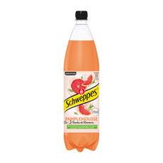 SCHWEPPES Boisson gazeuse aromatisée pamplemousse et touche de romarin 1,5l