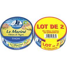 PETIT NAVIRE Le Mariné Thon citron et thym 2x110g